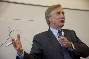 Angus King in Class. James Marshall photo.